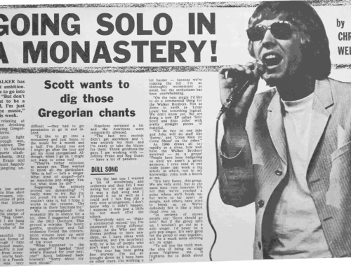 SCOTT WALKER – WHEN THE SUN SHONE ON A SUPER STAR