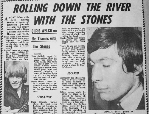 Rolling Down The River Thames with The Stones