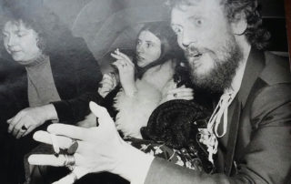Chris, Marilyne & Ginger Paris 1975